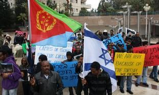EritreanProtestersInRamatGan