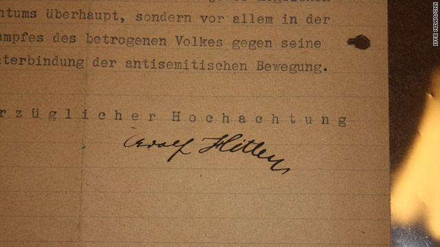 1919SignedLetterOfHitler'sFirstKnownStanceOnJewish'Removal'