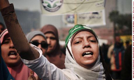 WomenProtestersGatherAtTahrir