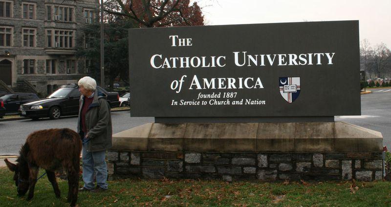 TheCatholicUniversityOfAmericaSign